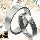 Yourword Matching Wedding Engagement Bands Titanium Couple Rings Set 048