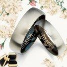 Men Women Black Titanium Wedding Rings 087