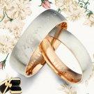 Men Women Rose Gold Titanium Wedding Rings 088