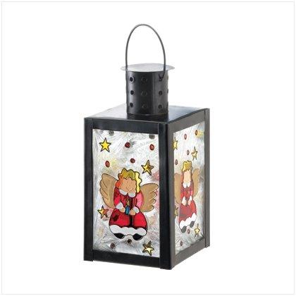 X-MAS ANGEL GLASS CANDLE LAMP