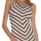 Striped Halter Mini Dress