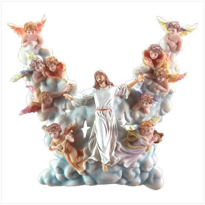 JESUS/CHERUB/CLOUDS WALL LIGHT