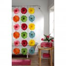 Maytex Gerbera Daisy PEVA Shower Curtain (2 DAY SHIPPING)