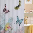"Cardinal Shower Curtain, 70""x70"", Birds and Butterfly Design (2 DAY SHIPPING)"