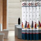 Nautical Boat Print Water-proof Shower Curtain (2 DAY SHIPPING)