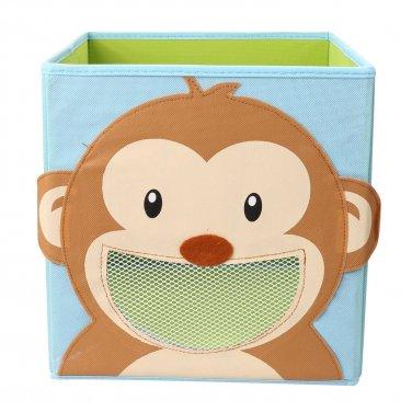 Foldable Kids' Toy Storage Bin Box (Smiling Monkey)