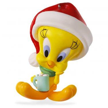 """Hallmark Keepsake """"Tweety - Hot Cocoa"""" Holiday Ornament"""