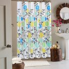 """Floral Mildew Resistant Fabric Shower Curtain 72x72"""""""