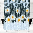 Daisy Spring Flowers Shower Curtain 72 x 78 Inches (2 DAY SHIPPING)