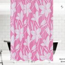 Floral Style Pink Shower Curtain 72 x 78 (2 DAY SHIPPING)