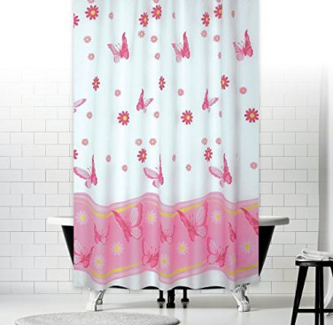 Butterfly Daisy Flowers Shower Curtain 72X78 (2 DAY SHIPPING)