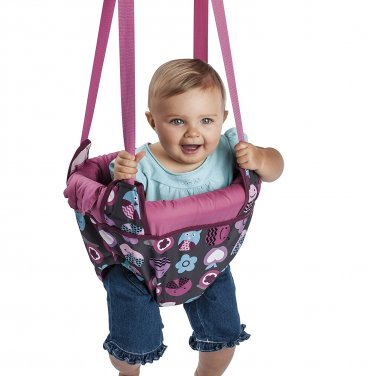 Evenflo Exersaucer Door Jumper, Pink Bumbly(2 DAY SHIPPING)