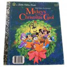 Mickey's Christmas Carol Little Golden Book 1983