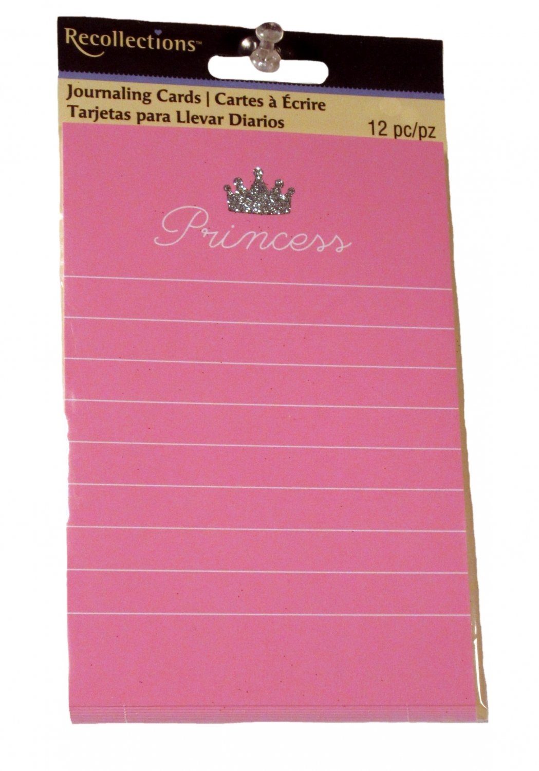 Recollections Pink Princess Lined Journal Cards