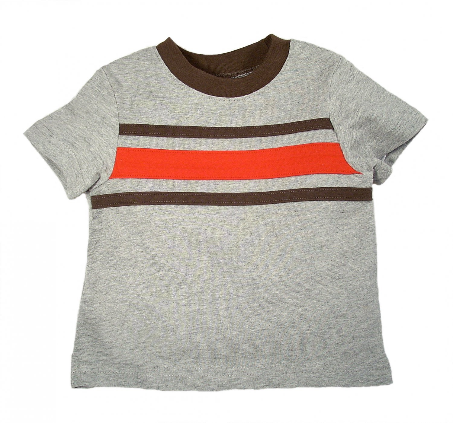 Circo Infant Boys Heather Gray Striped Cotton Short Sleeve T-Shirt 6 Months