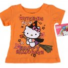 Hello Kitty Infant Girls Orange Halloween Short Sleeve T Shirt 12 Months