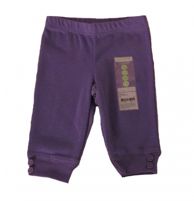 Carter's Infant Girls Purple Long Pants 3 Months