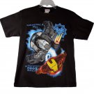 Marvel Iron Man 2 War Machine Kid Boys Black Short Sleeve T Shirt Medium