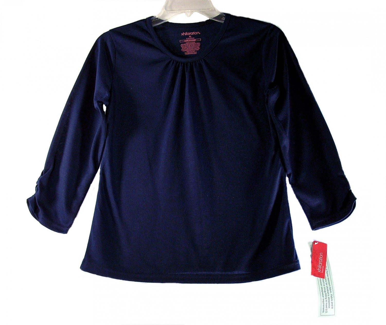 Xhilaration Kid Girls Blue 3/4 Sleeve Sleepwear Pajama Top X-Large