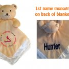 St. Louis CARDINALS  MLB Comfort Security Bear Security Blanket Crib toy Lovey Free Monogram