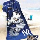 Mickey Mouse MLB New York Yankees Beach Towel - Free Monogram