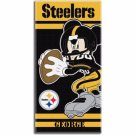 Disney Mickey Mouse NFL Pittsburgh STEELERS Beach Towel - Free Monogram