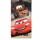Disney Cars Rule the Road Beach Towel Personalized with Free Monogram