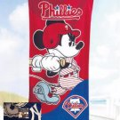 Mickey Mouse MLB Philadelphia Philies Baseball Beach Towel - Free Monogram