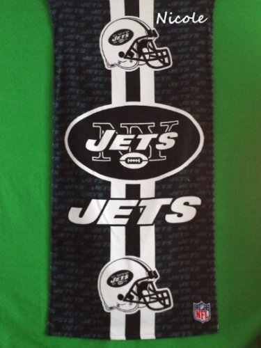 NFL Football New York JETS Beach Towel - Free Monogram