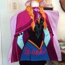 Girl's Hooded Beach Towel Poncho – Frozen Anna - Free Monogram