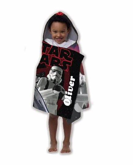 Star Wars Stormtrooper Hooded Beach Towel Wrap FREE Monogram