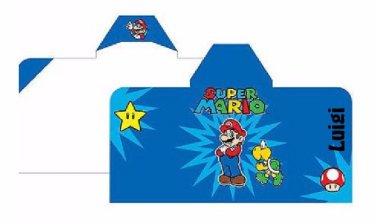 Nintendo Super Mario Hooded Beach Bath Towel Wrap - Super Star Personalized