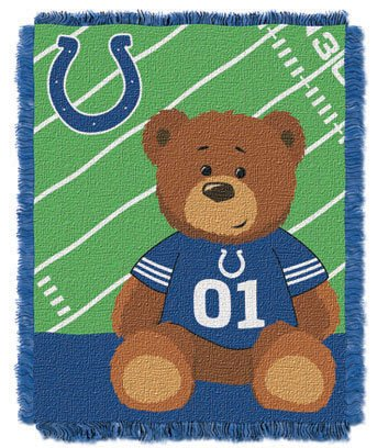 NFL Baby Throw Blanket Indianoplis COLTS Personalized