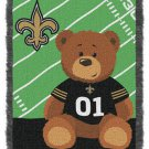 NFL Baby Throw Blanket New Orleans SAINTS  Personalized