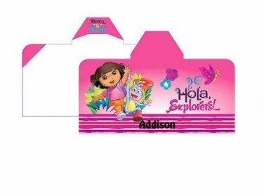Dora The Explorer Happy Explorer Hooded Towel Wrap Personalized