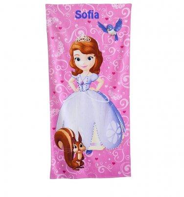 Disney Princess Sofia & Friends Beach Towel - Personalized