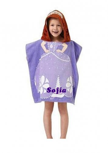 Disney Sofia the First Hooded Beach Towel Poncho Sofia - Personalized
