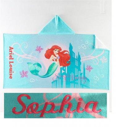 Disney The Little Mermaid Hooded Beach Towel Bath Wrap Ariel Mermaid - Personalized