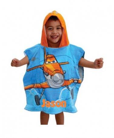 Disney Planes Echo Bravo Hooded Poncho Bath Towel Personalized