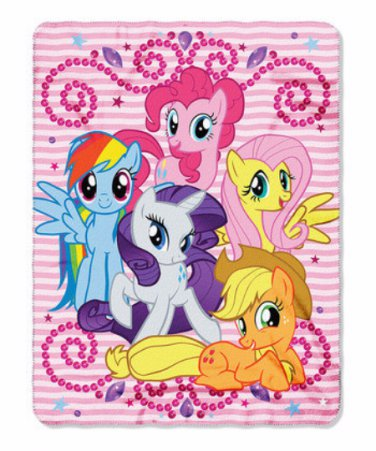 MLP My Little Pony Personalized Kids Micro Fleece Throw Blanket - Monogrammed