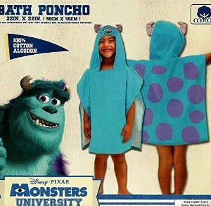 Disney Monsters University Sully Hooded Beach Towel Bath Poncho Personalized