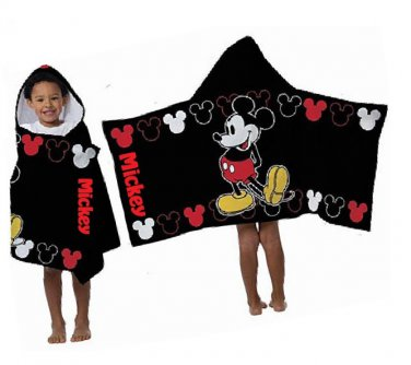 Disney MICKEY MOUSE Hooded Beach Towel Bath Wrap Personalized