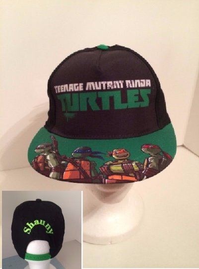 TMNT Teenage Mutant Ninja Turtles Boy's Flat Brim Bill cap Baseball Hat - Personalized