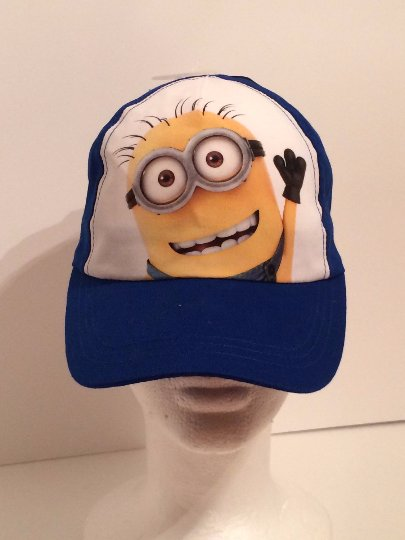 Minion Blue Kids Baseball Cap Hat Personalized