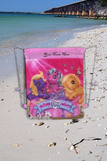 My Little Pony MLP Drawstring Backpack Sling Bag Tote � Personalized