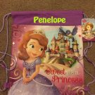 Disney Junior Princess Sofia the First Drawstring Backpack Sling Bag Tote – Personalized
