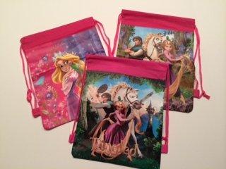 Disney Tangled Rapuzel Drawstring Backpack Sling Bag Tote � Personalized