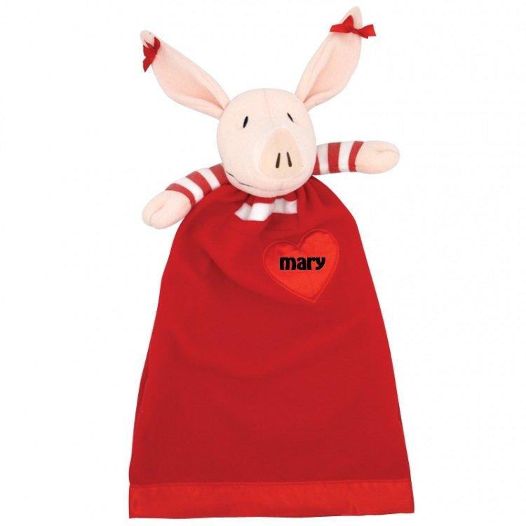 olivia the pig lovie character security blanket