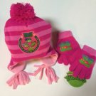 Girls TMNT Teenage Mutant Ninja Turtles PINK Hat & Gloves Set Personalized