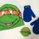 TMNT Teenage Mutant Ninja Turtles Hat & Mittens Set - Boys - Personalized